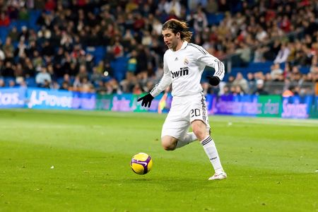 MADRID - JAN. 25, 2009: Gonzalo Higuain of Real Madrid during a Spanish First Division league match against Deportivo La Coruna. Stock Photo - 6886771