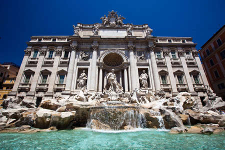 fontana: View of the Fontana di Trevi (Trevi Fountain) in Rome, Italy.