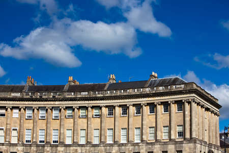 crescent: View of the Royal Crescent in Bath, England.