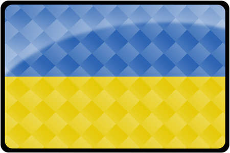 ukranian: Stylish Ukranian flag rectangular button with diamond pattern overlay.  Part of set of country flags all in 2:3 proportion with accurate design and colors.