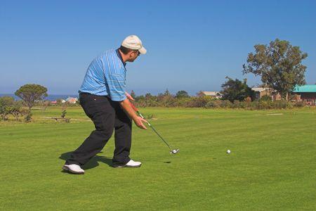 Upset golfer. photo