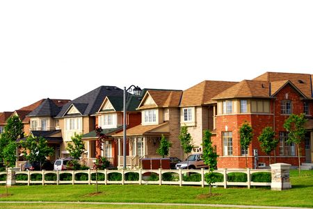 Row of new residential houses in suburban neighborhood Stock Photo - 827993