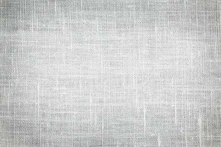 vignette: White linen woven fabric background or texture with dark vignette Stock Photo