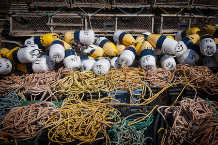 east coast: Floats, rope and lobster traps in North Rustico, Prince Edward Island, Canada.