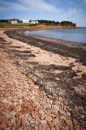 gables: Prince Edward Island coast near village of North Rustico in Green Gables Shore,  PEI, Canada. Stock Photo