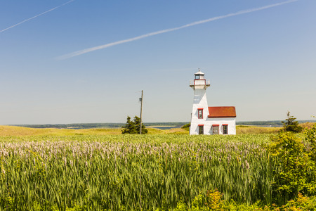 edward: New London Range Rear Lighthouse in Queens County, Prince Edward Island, Canada