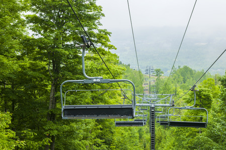 chairlift: COLLINGWOOD, ON, CANADA - JUNE 18: Chairlift closed in summer at Blue Mountain Ski Resort, 2014 Editorial