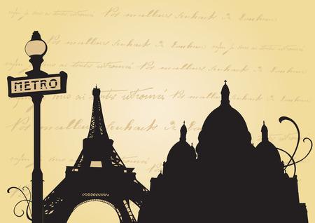 montmartre: Illustration de la tour Eiffel