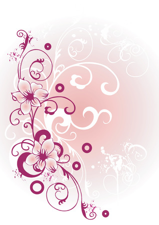 vector flowers: Illustration of a floral background