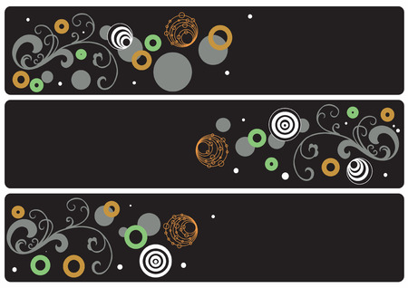 Set of three decorative banners Vector