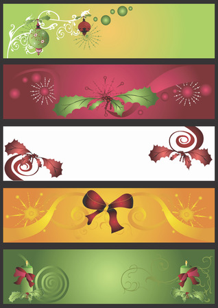 Illustration of decorative Christmas banners Vector