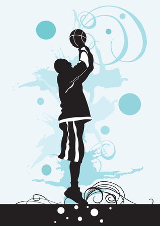 Illustration of a basketball player Vector