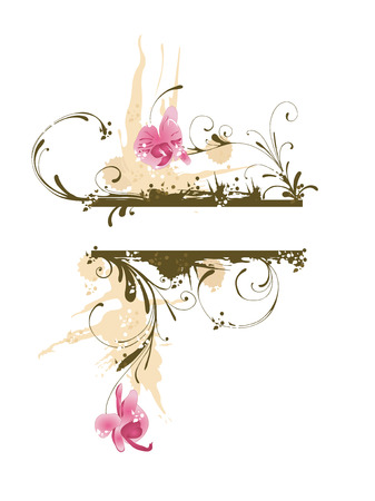 grungy background: Illustration of a grungy background with orchids