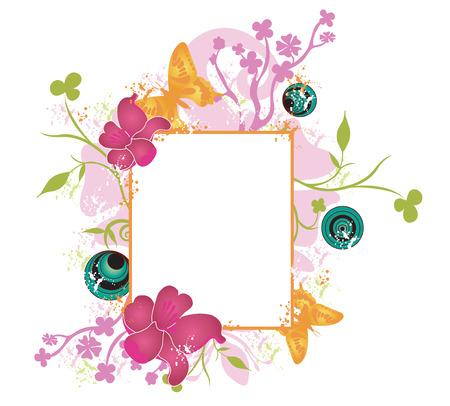 Illustration of a floral frame Stock Vector - 3554913