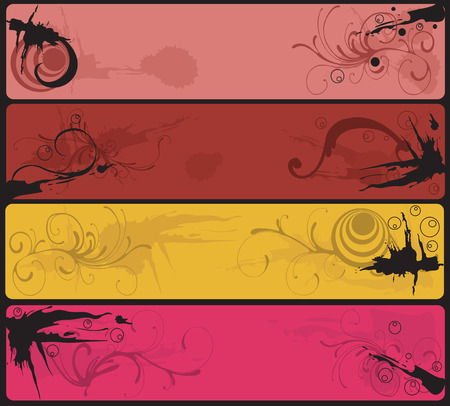 Set of four grungy banners Stock Vector - 3708919
