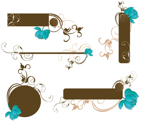 Set of decorative frames and design elements Stock Vector - 3985496