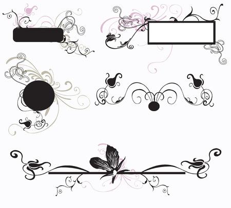 Set of design elements and decorative frames Vector