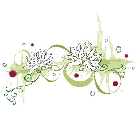 Illustration of a floral background Vector