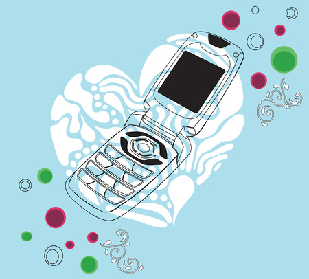 Illustration of a mobile phone Vector