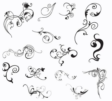 scrool: Set of retro design elements