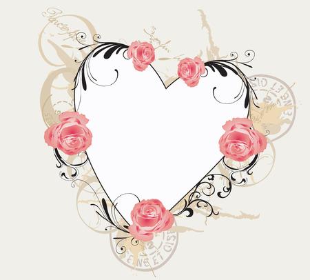 Illustration of a floral frame