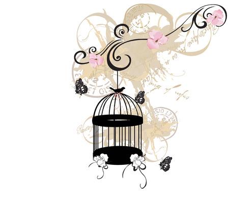 Illustration of a birdcage