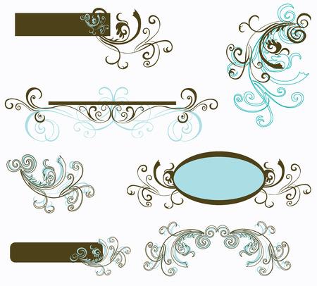 retro design elements: Set of retro design elements