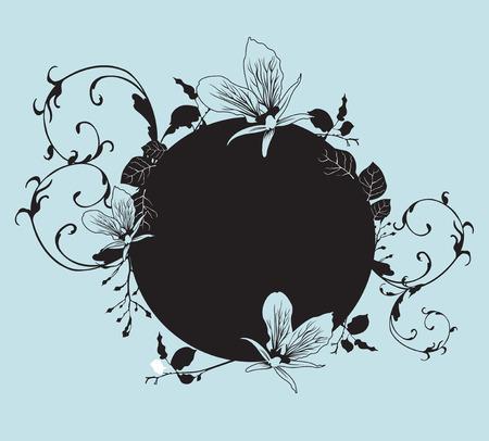 Illustration of a floral frame Vector