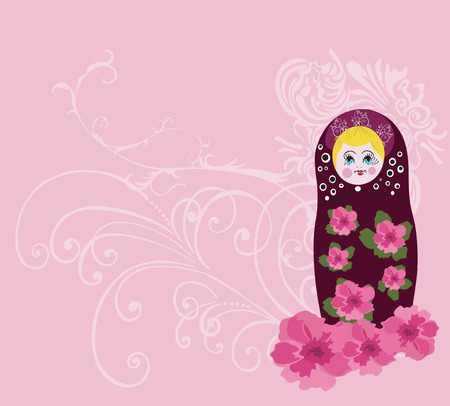 Illustration of a russian doll Vector
