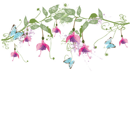abstract flowers: Illustration of a floral background