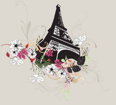 Illustration of the Eiffel tower Stock Vector - 6020784