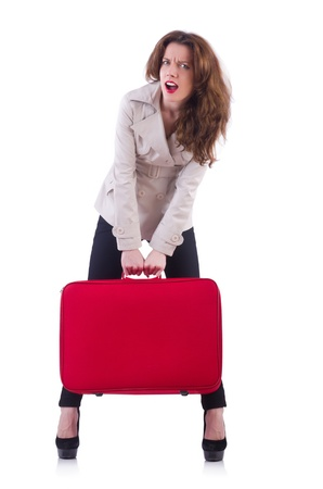 Young woman preparing for vacation Stock Photo - 21086997