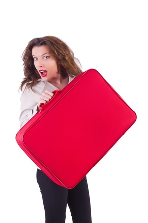 Young woman preparing for vacation Stock Photo - 21087000