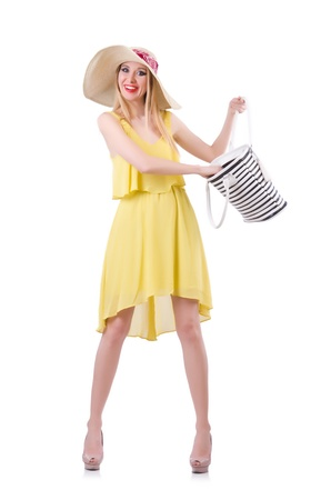 Young attractive woman ready for summer vacation Stock Photo - 21087042