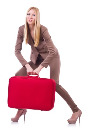 Young woman preparing for vacation Stock Photo - 21087099