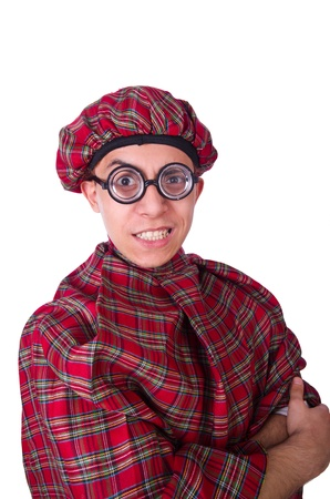 Funny scotsman isolated on the white Stock Photo - 21011502