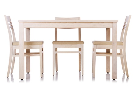 wooden furniture: Furniture set with table and chair