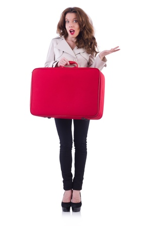 Young woman preparing for vacation Stock Photo - 21029837