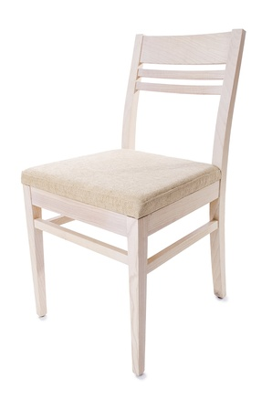 Kitchen chair isolated on the white photo