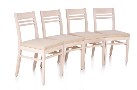 Row of chairs isolated on the white Stock Photo - 20838798