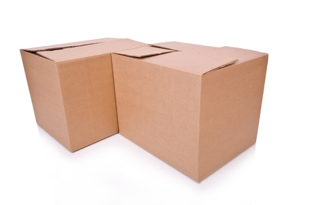 Carton boxes isolated on the white background Stock Photo - 20838799