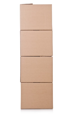 Carton boxes isolated on the white background Stock Photo - 20838810