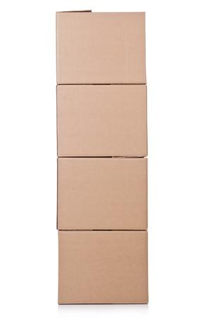 Carton boxes isolated on the white background Stock Photo - 20838810