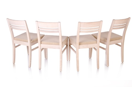 Row of chairs isolated on the white Stock Photo - 20838828