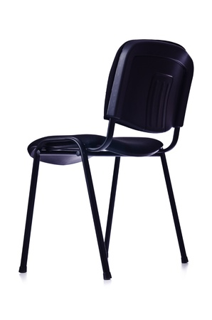 Black office chair isolated on white Stock Photo - 20838850