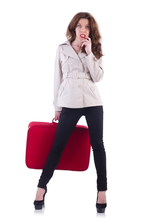Young woman preparing for vacation Stock Photo - 21029724