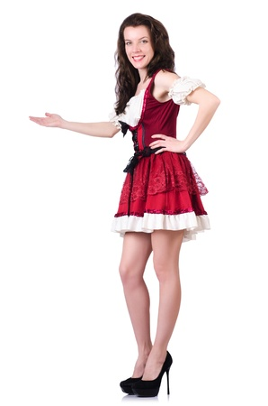 German girl in traditional festival clothing Stock Photo - 21029869
