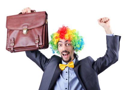 Clown businessman isolated on white Stock Photo - 21084560