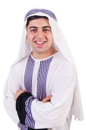 Young arab man isolated on white Stock Photo - 21326524