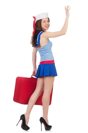 Young woman preparing for vacation Stock Photo - 21326535